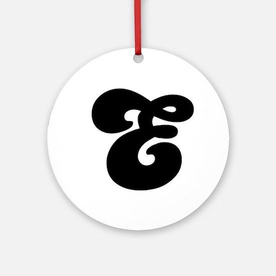 Fun Funky letter E Ornament (Round)