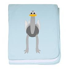 Ostrich Design baby blanket