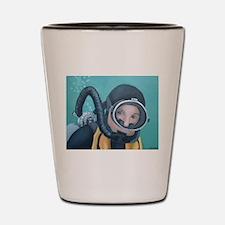 Double Hose Diver Shot Glass