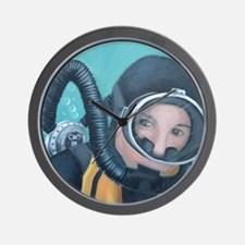 Double Hose Diver Wall Clock