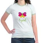 Krystal The Butterfly Jr. Ringer T-Shirt