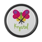 Krystal The Butterfly Large Wall Clock