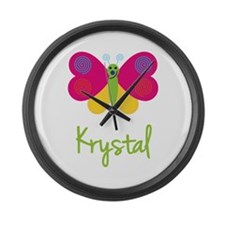 Krystal The Butterfly Large Wall Clock
