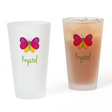 Krystal The Butterfly Drinking Glass