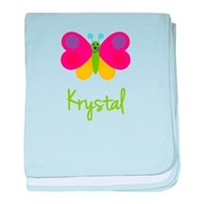 Krystal The Butterfly baby blanket