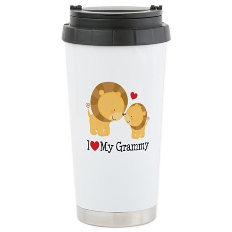 I Heart My Grammy Stainless Steel Travel Mug
