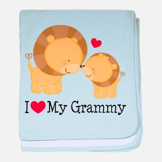 I Heart My Grammy baby blanket