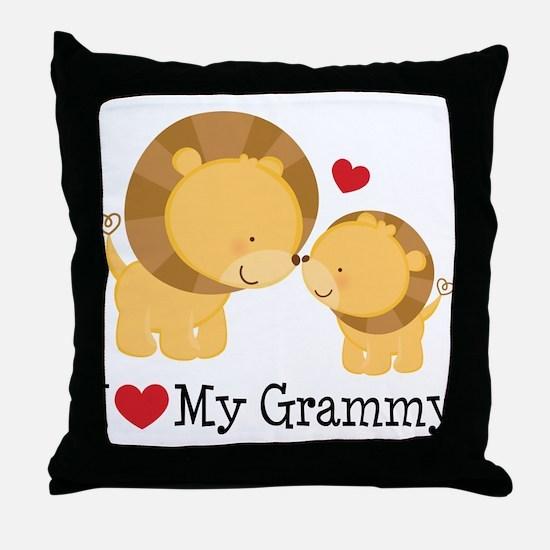 I Heart My Grammy Throw Pillow