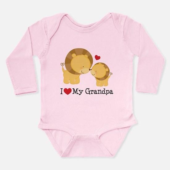 I Heart My Grandpa Long Sleeve Infant Bodysuit