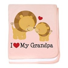 I Heart My Grandpa baby blanket
