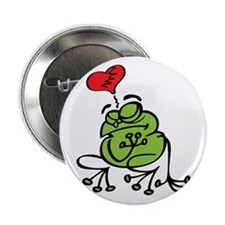 "Frog Valentines Day 2.25"" Button"