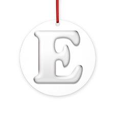 E Ornament (Round)