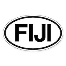 Fiji Oval Bumper Stickers