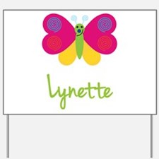 Lynette The Butterfly Yard Sign