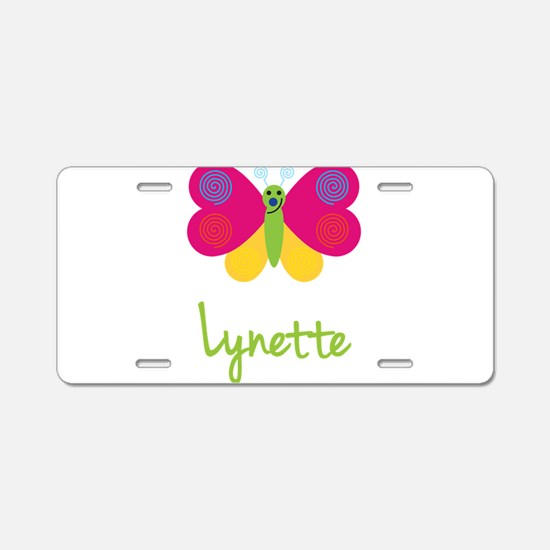 Lynette The Butterfly Aluminum License Plate