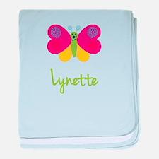 Lynette The Butterfly baby blanket