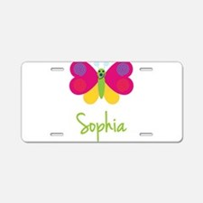 Sophia The Butterfly Aluminum License Plate