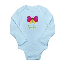 Sophia The Butterfly Long Sleeve Infant Bodysuit