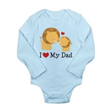 I Heart My Dad Long Sleeve Infant Bodysuit