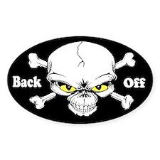 Back Off Custom Decal