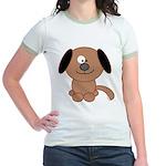 Brown Puppy Jr. Ringer T-Shirt