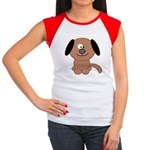 Brown Puppy Women's Cap Sleeve T-Shirt