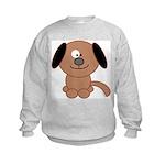 Brown Puppy Kids Sweatshirt