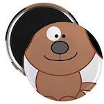 Brown Puppy Magnet