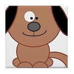 Brown Puppy Tile Coaster