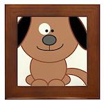 Brown Puppy Framed Tile