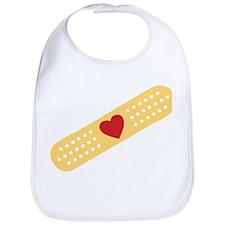 Broken Heart Band Aid Bib