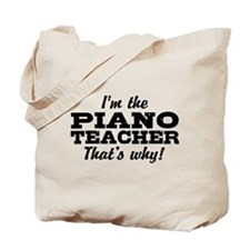 Funny Piano Teacher Tote Bag
