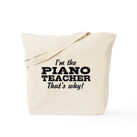 Funny Piano Teacher Tote Bag