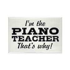 Funny Piano Teacher Rectangle Magnet