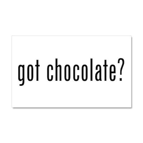 Got Chocolate? Car Magnet 20 x 12