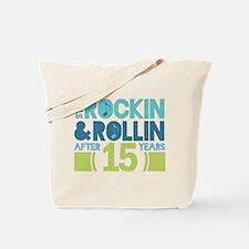 15th Anniversary Rock N Roll Tote Bag