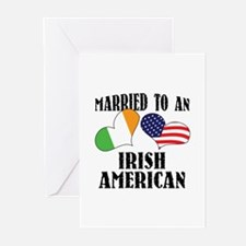 Married Irish American Greeting Cards (Pk of 10)