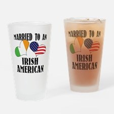 Married Irish American Drinking Glass
