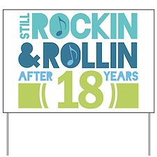 18th Anniversary Rock N Roll Yard Sign
