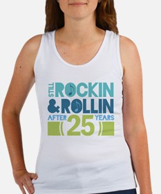 25th Anniversary Rock N Roll Women's Tank Top