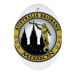 Australia Brisbane LDS Missio Ornament (Oval)