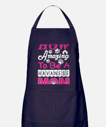 How Amazing To Be A Havanese Mom Apron (dark)