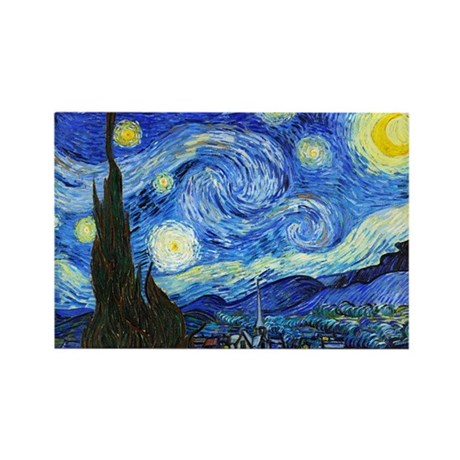 Van Gogh - Starry Night Rectangle Magnet (100 pack