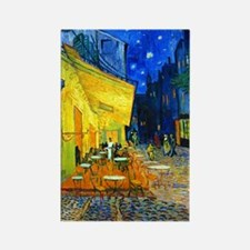 Van Gogh - Cafe Terrace Rectangle Magnet (100 pack