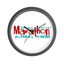 Marathon- The Pride is Forever Wall Clock