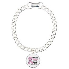 Mother-in-Law Breast Cancer Charm Bracelet, One Ch