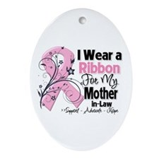 Mother-in-Law Breast Cancer Ornament (Oval)