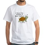 Marry a Box Turtle Cornyn White T-Shirt
