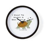 Marry a Box Turtle Cornyn Wall Clock