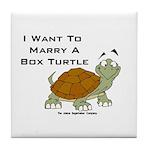 Marry a Box Turtle Cornyn Tile Coaster